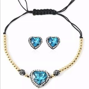 Stud Solitaire Earrings Bracelet Set